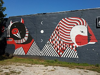 East Atlanta - Mural by Fefe Talavera in East Atlanta