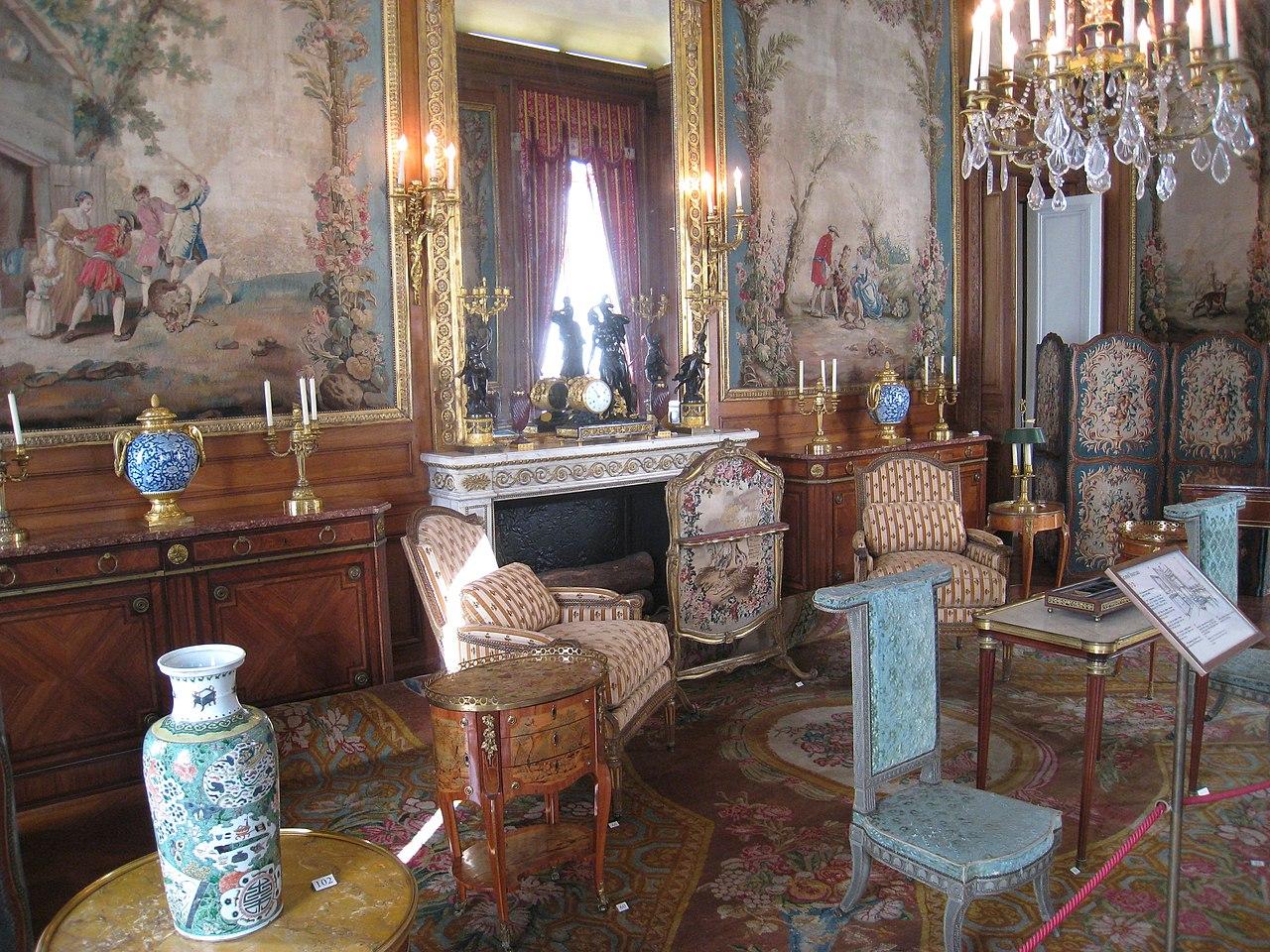 Mahogany louis xvi lady desk maison charles paris table lamp