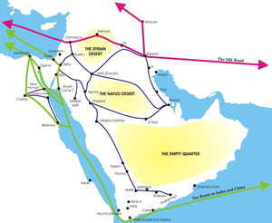 Nabataean Kingdom - Image: NABATAEAN TRADE ROUTES