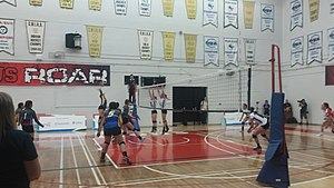 2017 North American Indigenous Games - Under-19 female volleyball bronze medal match at Tait Mackenzie Centre, Toronto