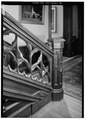 NEWEL AND BALUSTRADE IN FIRST FLOOR HALL. - Cornell University, Llenroc, 100 Cornell Avenue, Ithaca, Tompkins County, NY HABS NY,55-ITH,11A-16.tif