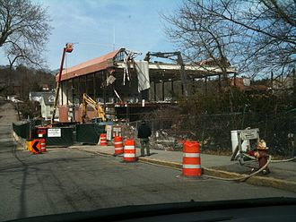 Newton North High School - Old building being dismantled