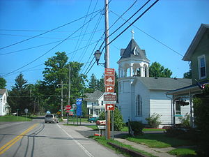 New York State Route 14 - NY 14 northbound at the junction of Fitzhugh and Bay streets in Sodus Point