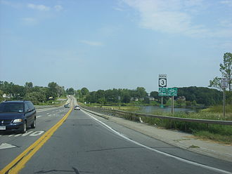New York State Route 3 - Northbound on NY 3 west of Pulaski