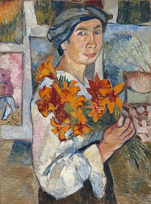 Natalia Goncharova - Image: Natalia Goncharova (self portrait, 1907, GTG)