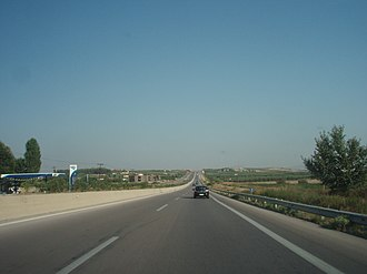 Motorway 24 (Greece) - Image: National Road 67, Greece Section Nea Kallikratia Thessaloniki 02