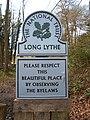 National Trust sign, Long Lythe, Selborne, Hampshire 01.jpg