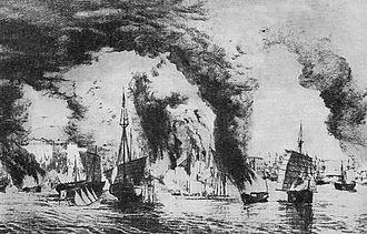 Taiping Heavenly Kingdom - Taiping–Qing naval battle on the Yangtze river near Nanjing