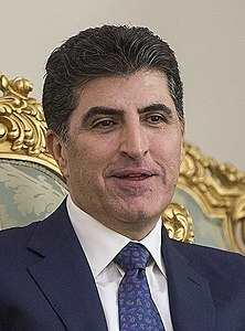Nechirvan Barzani meets with Ali Shamkhani, Tehan 21 January 2018 (29915) (cropped).jpg