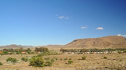 Part of the town of Nelspoort in the Karoo