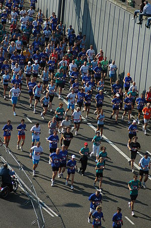Road running - The Dam tot Damloop is a road race from Amsterdam to Zaandam in the Netherlands