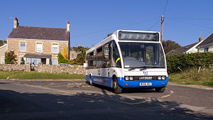 NAT Group - Optare Solo in Llangennith, Gower Peninsula in September 2014