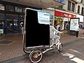 New Street, Birmingham - Pirates exhibition on a 3 wheeled bike (9423251095).jpg