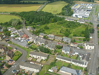 Newbridge, Edinburgh - Image: Newbridge from the air