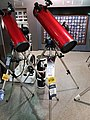 Newtonian reflector telescopes at a telescope shop.jpg