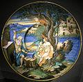 Ngv, francesco xanto avelli (attr.), piatto con venere, vulcano e cupido, 1528 circa.JPG