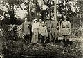 Nicholas II, Emperor of Russia, Grand Duchess Anastasia Nikolaevna, Prince Vasily Dolgorukov and servants at Tsarskoye Selo.jpg
