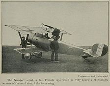 Nieuport 21 Scout French WW1 fighter