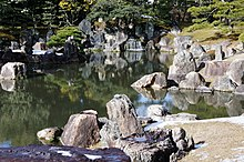 The pond of the Ninomaru Garden