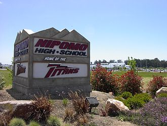 Nipomo, California - The entrance to Nipomo High School