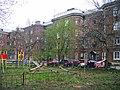 Nizhny Novgorod. Children playground at heritage blockyard in Sormovo (Komintern St., 181).jpg