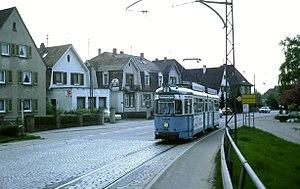 Eppelheim - Image: No. 2 tram leaving Eppelheim, 1979