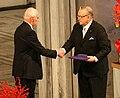 Nobel Peace Prize 2008 Ole Danbolt Mjøs & Martti Ahtisaari 1.jpg