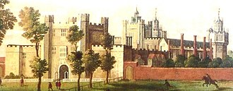 Nonsuch Palace - An early 17th century depiction of Nonsuch Palace