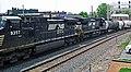 Norfolk Southern Railway - 9357 & 8379 diesel locomotives (Marion, Ohio, USA) 1 (42503980114).jpg