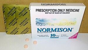 Benzodiazepine - Temazepam (Normison) 10 mg tablets