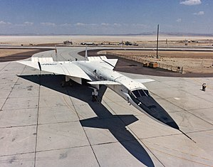 North American XB-70 Valkyrie - XB-70A parked at Edwards Air Force Base in 1967