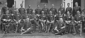 North Staffordshire Regiment - Officers of the 2nd Battalion, India 1908