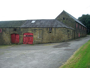 Barnes Hall, South Yorkshire - The north and west barns are to be converted into dwellings.