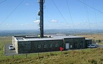 Transmitter station - A transmitter station building in Devon, Britain
