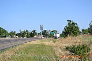 Estelline, Texas - Northbound (blind curve)