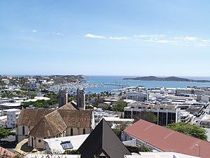 Nouméa - City centre and Nouméa Cathedral