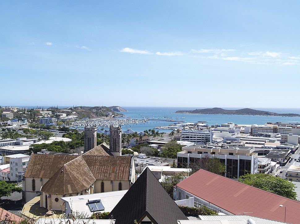 City centre and Nouméa Cathedral