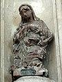 Noyon (60), cathédrale Notre-Dame, croisillon nord, groupe sculpté de l'Annonciation - La Vierge.jpg