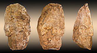 Lithic core - Image: Nucleus Brassempouy Global fond
