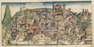 Babylonian captivity - Illustration from the Nuremberg Chronicle of the destruction of Jerusalem under the Babylonian rule