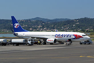 Corfu International Airport - Travel Service Airlines Boeing 737-800 at Corfu International Airport