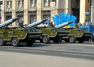 OTR-21 Tochka - Ukrainian OTR-21 Tochka missiles during the Independence Day parade in Kiev