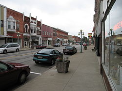 Water Street runs concurrently with State Routes 105 and 163 in downtown Oak Harbor