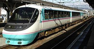Odakyu 20000 series RSE - Image: Odakyu 20000 series 20301 Numazu 20070311