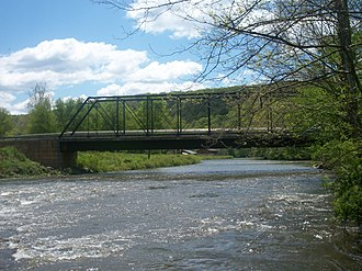 Oil Creek (Allegheny River tributary) - Oil Creek and Titusville Railroad bridge spanning Oil Creek