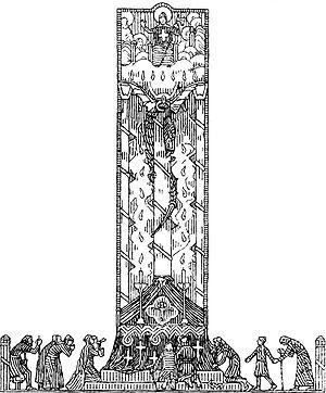 Rex Perpetuus Norvegiae - Illustration for Olav den helliges saga (1899)