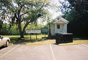 Aripeka, Florida - The historic former Aripeka Post Office on the Pasco County side of the town