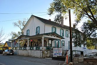 Madrid, New Mexico - The Old Boarding House Mercantile, restored and still in operation