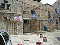 Old Jerusalem Greek Catholic Patriarchate street flags.jpg