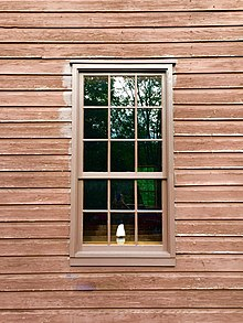 Nine Over Six Double Hung Sash Wooden Window